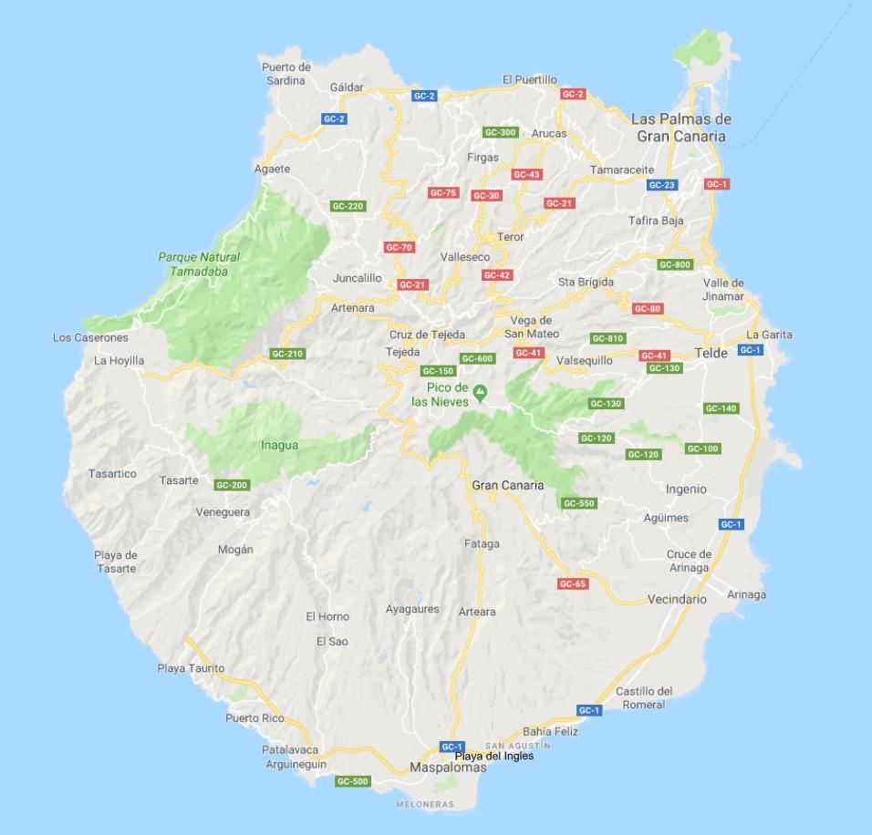 Gran Canarian kartta