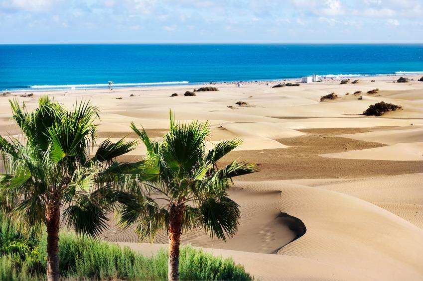 Gran-Canaria-Maspalomas-beach-dyynit-hiekkarantaa