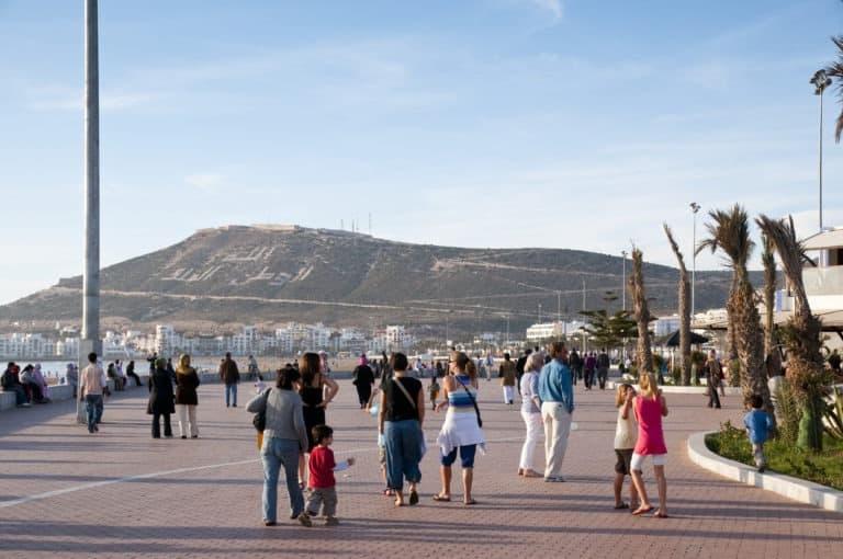 Agadir ranta promenadi